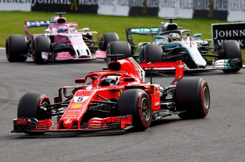 Vettel wins in Belgium and reduces Hamilton's lead