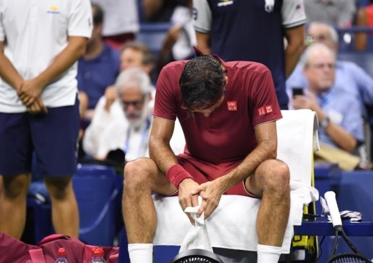 Federer falls to Millman, who will face Djokovic in the quarterfinals of the U.S. Open