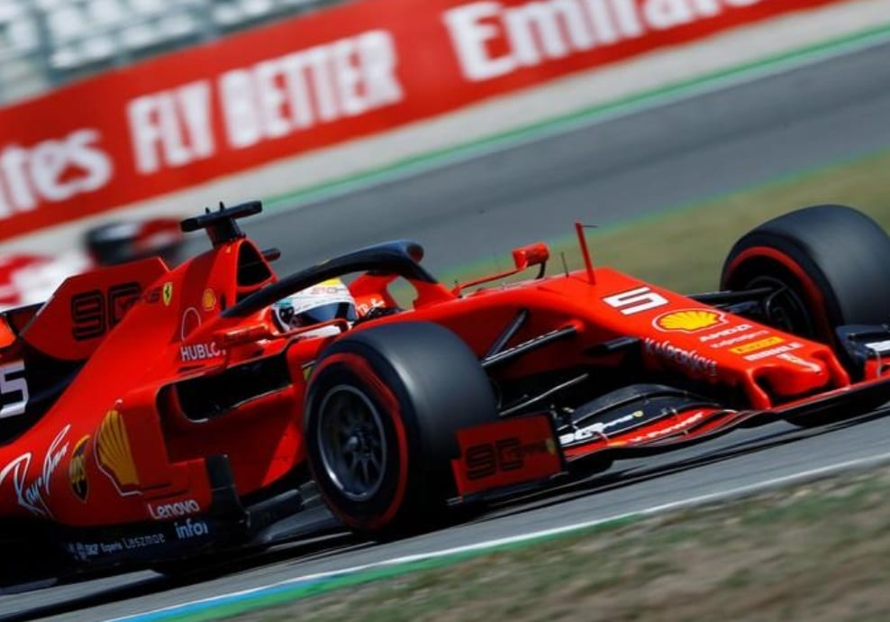Charles Leclerc's Ferrari was the fastest on Friday in practice at the German F1 Grand Prix