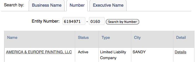 Utah Business Entity Search