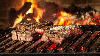 Make bulk BBQ by souvla machine.